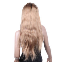 Mix Color Brazilian hair Straight 22 Inch Silky Straight Indian Virgin Hair Full Lace Wig DHL Free Shipping Full Lace Wigs Two Tones Hair Wigs 100% Human Hair Full Lace wig