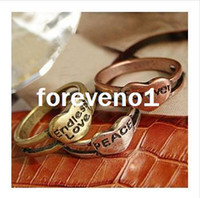 Wholesale New Fashion accessories letter Rings European amp USA Jewelry Retro Vintage Letters LOVE Heart Pray tree Ring RJ415