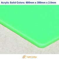 Wholesale 600mm x mm x mm Acrylic PMMA Plexiglass Sheets Solid Colors Light Green