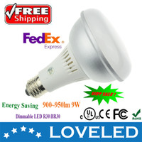 Wholesale Fcatory price CE UL cUL Approved r30 led bulb br30 led bulb dimmable W lm cool white great aluminum high PF Free Fedex