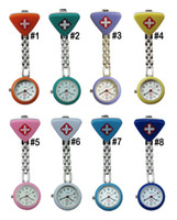 Wholesale 100pcs new Fashion triangle doctor Watch Pocket triangle nurse Watch alloy triangle watch