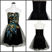 Wholesale Unique Design China Retro Embroidery Appliques Sweetheart Short Prom Dresses Wonderful Sexy Lace Up Organza Sequins Evening Party Dress