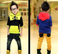 Boy Spring / Autumn Hooded Thicken ! Fashion boys hoodies Chest buckle baby fleeces with hat casual children's Hoodies 5pcs lot Hot Sale