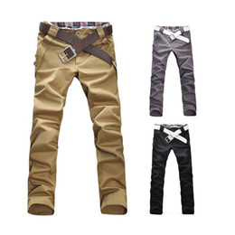 Wholesale S5Q Mens Slim Fit Skinny Stretch Pencil Trousers Long Casual Pants AAACUR