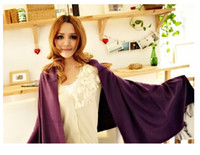 Wholesale Pashmina Cashmere gradient color Scarf Silk Solid Shawl Wrap Women Scarves candy color