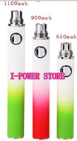Electronic Cigarette Battery  50pcs free DHL 650 900 1100 mAh Gradient EVOD Colorful Rechargeable Electronic Cigarette ego newest Battery for CE4 CE5 CE6 mt3 Atomizer