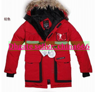 Wholesale 2014 Brand men s Canada Chateau Parka down jacket coats Real Raccoon fur collar Winter warm thick cold outdoors cols waterproof jackets