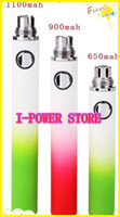 Electronic Cigarette Battery  free DHL 650 900 1100 mAh Gradient EVOD Colorful Rechargeable Electronic Cigarette ego newest Battery for CE4 CE5 CE6 mt3 Atomizer