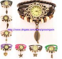 Fashion fashion watch bracelet - Cheaper Fashion Women Leather Bracelet Watch Retro Watch Starfish Butterfly Owl Vintage Watches different styles same prices