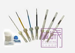 Wholesale Freeshipping pc permanent makeup tattoo Needle Prong Round Needle and pc tips for Biotouch Mosaic permanent makeup tattoo machine