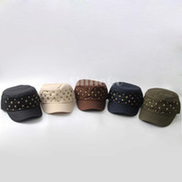 Wholesale 50 New arrivals colors Unisex Men Women Retro Vintage Fashion Leisure Rivet Punk Styles Adjustable Cotton Ball Caps Cap Hat