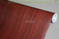 Wholesale Wardrobe stickers door stickers wallpaper wall stickers wallpaper rubber pvc wallpaper wood grain w2102