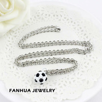 Wholesale New design fashion jewelry shinning imitation cystal Soccer pendant necklaces