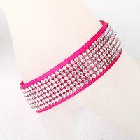 Wholesale Acrylic Alloy Rhinestone Diamond Cloth Bracelet Cloth Colorful popular European style Jewelry