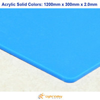 Wholesale 1200mm x mm x mm Acrylic PMMA Plexiglass Sheets Solid Colors Sky Blue