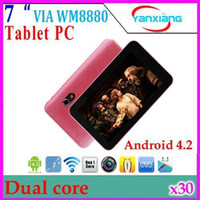 "7 inch Dual Core Android 4.2 DHL 30pcs New 7"" VIA 8880 dual core 4GB HDMI dual camera capacitive screen Android 4.2 tablet pc RW-MID-10"