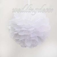 10pcs balls halloween craft - 10 Pieces cm cm cm cm White Wedding Party Home Tissue Paper Pom Poms Flower Balls Wedding Favor Party Decoration Paper Crafts