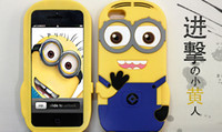 Wholesale New Soft Silicone Despicable Me minions case for iphone s cell phone mobile covers