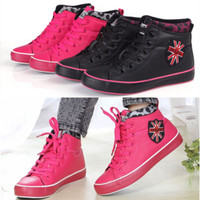 Wholesale Specials British style female cotton padded shoes snow warm waterproof thi frost casual high top boots women shoes