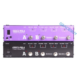 Wholesale 4 Loops Pedalboard For Guitar Programmable Effect Foot Pedal Board Looper Switcher Router Looping System WAVE X For Boss Mooer Instrument