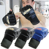 Protective Gear   S5Q Cool MMA Muay Thai Training Punching Bag Half Mitts Sparring Boxing Gloves AAACUX