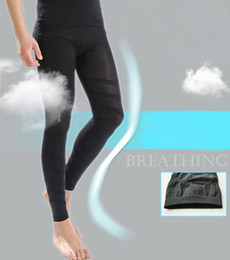 Wholesale MEN S BLACK ELASTIC THIN SHAPING SLIMMING LONG PANTS COMPRESSION UNDERWEAR