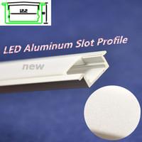 Wholesale 20pcs FedEx DHL m u Channel LED Aluminum Slot Profile with Waterproof Cover for led hard rigid light
