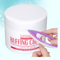 Base coat Gel Glitter uv gel  EQ0125 Nail Buffing Cream + Buffer Varnish Polish Manicure Set