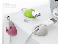 Wholesale PC Cable Drop Card CableDrop Clips Bright Muted Color Multipurpose Cable Clips Cor Wire