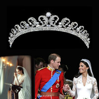 Wholesale Kate Middleton Romatic Shiny Tiaras Crystals Crowns Wedding Bridal Jewelry Sets