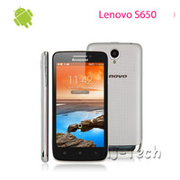 Wholesale NEW Multi language Lenovo S650 quot Capacitive Android GB GB MTK6582 Quad Core CPU Dual Sim Android Smart Cellphone