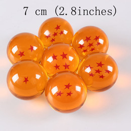 Wholesale Japan Anime Dragon ball Z star crystal ball piece Big Size Inch CM retail package can choose star