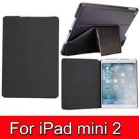 Wholesale 50pcs Shapes Magnetic PU Leather case PC Case Stand for iPad mini Flip Thin Design
