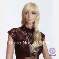 Wholesale in stock inch usa hot sell women long blond wig kanekalon fiber wigs elegance fanshion girls wigZL87