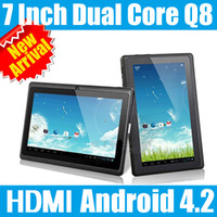 Wholesale 7 Inch HDMI Android Tablet Pc Dual Core Capacitive Screen Actions Q8 Allwinner A23 GB GHz MB DHL UPS shipping