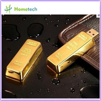 Wholesale New arrival full capacity NEW gold bar Cute flash disk GB GB GB GB GB Flash Drive USB with the most competitive price