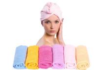 towel wrap - Microfiber Magic Hair Drying towel Turban Wrap Towel Hat Cap Quick Dryer Bath L470
