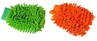 Wholesale Microfiber Chenille car cleaning glove mitt car wash cloth glove Fedex free
