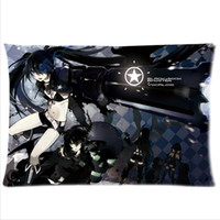 Wholesale The Home of Animation Enthusiasts Black Rock Shooter Custom Rectangle Pillow Case Side From Anime Fans BRS13