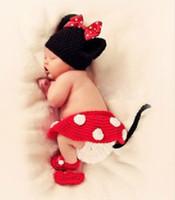 al por mayor pañal ganchillo recién nacido-Baby hecho a mano ganchillo sombrero y pantalones cortos Bebé recién nacido Crochet Beanie Hat Diaper Cover con zapatos Skirt Baby Clothes