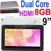 Wholesale Tablet PC Dual Core Inch HDMI ATM7021 GB M RAM Android Jelly Bean Dual Camera MP Wifi Capacitive Screen P706 Webcam Video Chat