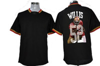 Wholesale 49ers Patrick Willis Team All Star Fashion Jerseys Black Football Jerseys with Players Photo on Back Brand Mens Sports Shirt Cheap
