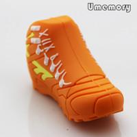 Wholesale Hot Orange Sport Shoes Shape USB Flash Drive Real Capacity GB GB GB GB GB Pen Drive USB Stick Memory Stick US0278