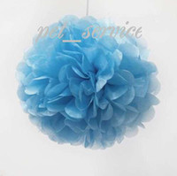 Wholesale High Quanlity LARGE quot cm BLUE TISSUE PAPER POMPOMS wedding party decorations poms