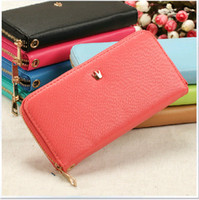 For Apple iPhone Leather For Christmas hot Envelope wallet PU Leather Crown Smart Pouch Cover case clutch bags handbag for iphone 4 4s 5 5s 5c Samsung Galaxy S4 S3 NOTE 2 note 3