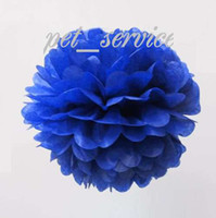Wholesale 12 LARGE quot cm NAVY BLUE TISSUE PAPER POMPOMS wedding party decorations poms