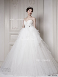 Wholesale 2014 Ball Gown Sweetheart Ersa Atelier Tulle Lace Bridal Gowns Wedding Dress D1219
