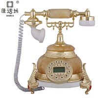 Pendant Necklaces   Square Gift natural jade elephants European high-end antique classic retro telephone landline telephone Dover