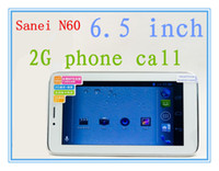 Wholesale Sanei N60 G Phone Call inch Android MTK6515A GHz GB WiFi Bluetooth Dual Cameras Dual GSM SIM Card Tablet PC