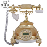 Best Square fashion creative natural jade elephants European antique telephone landline telephone Caller ID 9026